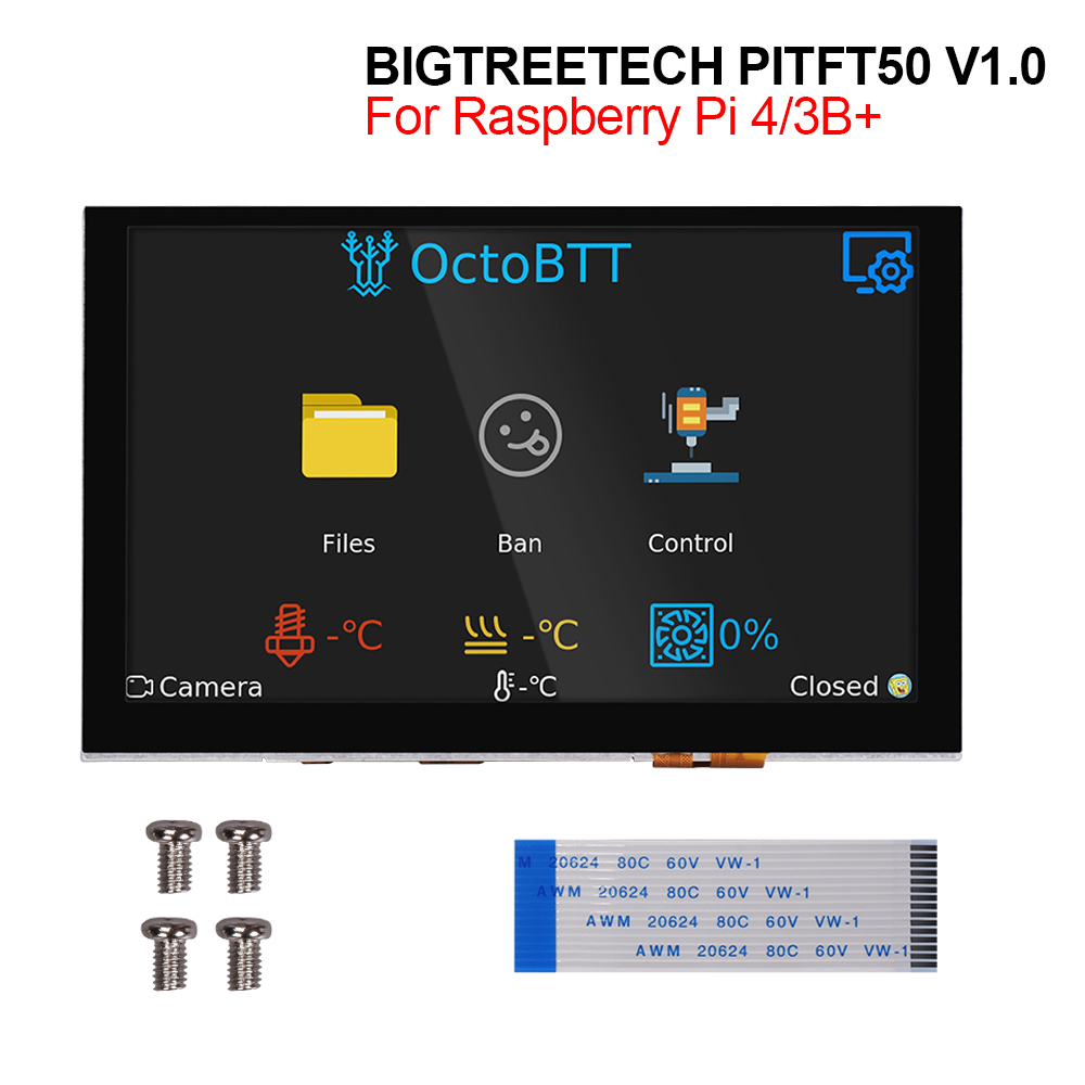 BIGTREETECH PITFT50 V1.0 Touch Screen <font><b>5</b></font> <font><b>inch</b></font> DSI 800 x 480 Capacitive Screen LCD <font><b>Display</b></font> for Octoprint <font><b>Raspberry</b></font> <font><b>Pi</b></font> 4 3B Plus 2B image
