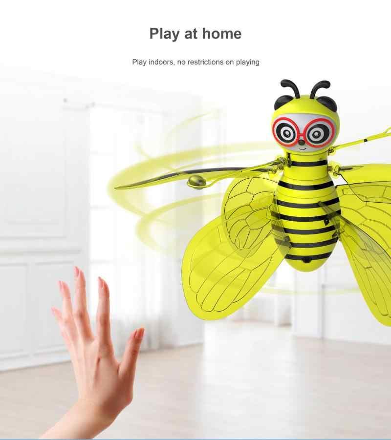 تحلق النحل مستشعر الأشعة تحت الحمراء RC الحيوانات اليد التي تسيطر عليها إيماءة الاستشعار ليتل النحل تحلق آلة صغيرة بدون طيار هدية للأطفال لعبة