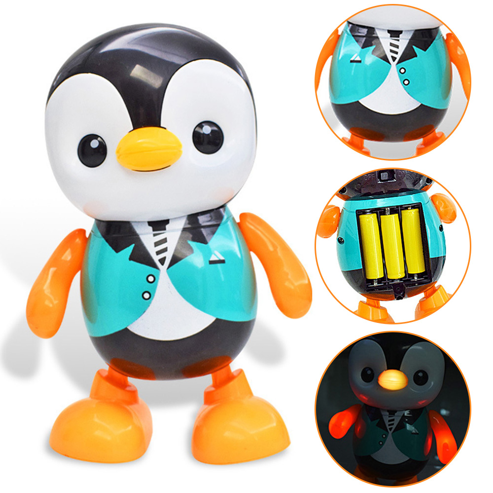 Cartoon Dancing Penguin Electric Toy Singing Colorful Electric Little Penguin Education Toy For Children Baby Gift