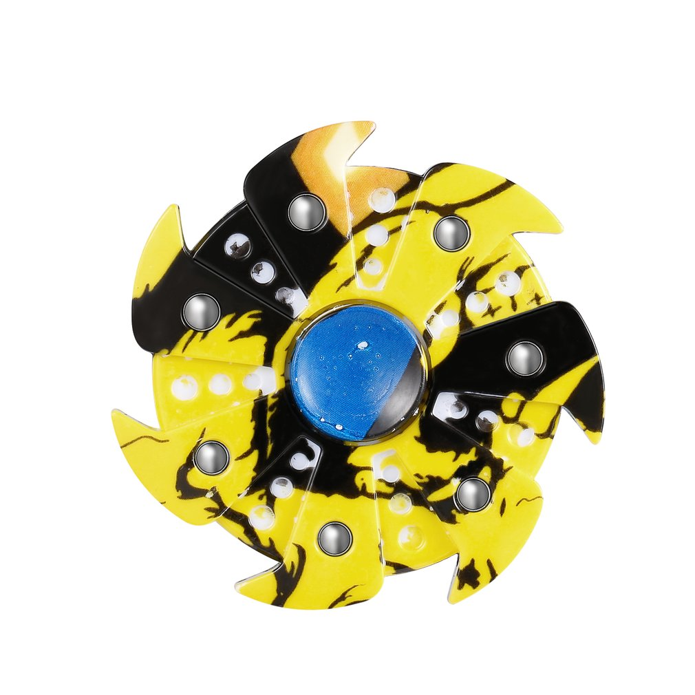 Durable Funny Relieving ADHD Sufferer Anxiety Stress Reducer Finger Toy Seven Leaves Hand Spinner With Vortex Appearance