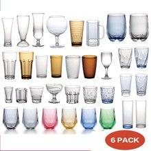 Kieliszki akrylowe zestaw wielokrotnego użytku Drink Tumblers niezniszczalny wielokrotnego użytku plastikowe kubki plastikowy kubek zestaw zmywarka Safe 6pack