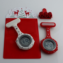 2019 nurse watch digital silicone medical fob brooch doctor with clip dropshipping Merry Christmas