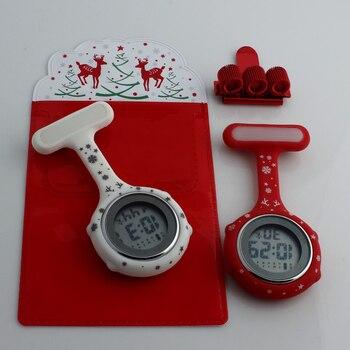 2019 nurse watch digital silicone medical watch fob brooch watch nurse doctor with clip dropshipping Merry Christmas