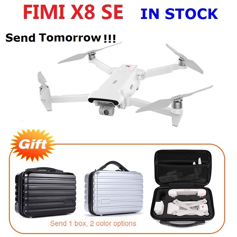 Free Shipping With Box Gift FIMI X8 SE 5KM FPV With 3-axis Gimbal 4K Camera GPS 33mins Flight Time RC Drone Quadcopter RTF