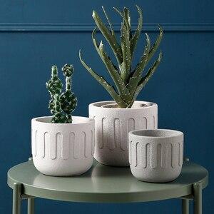 Image 3 - Круглая силиконовая форма для цветочного горшка, креативная форма для бетонных горшечных растений