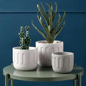 Image 3 - Moule rond en silicone pour pot de fleurs en ciment, moule créatif pour pot de fleurs, plantes en pot