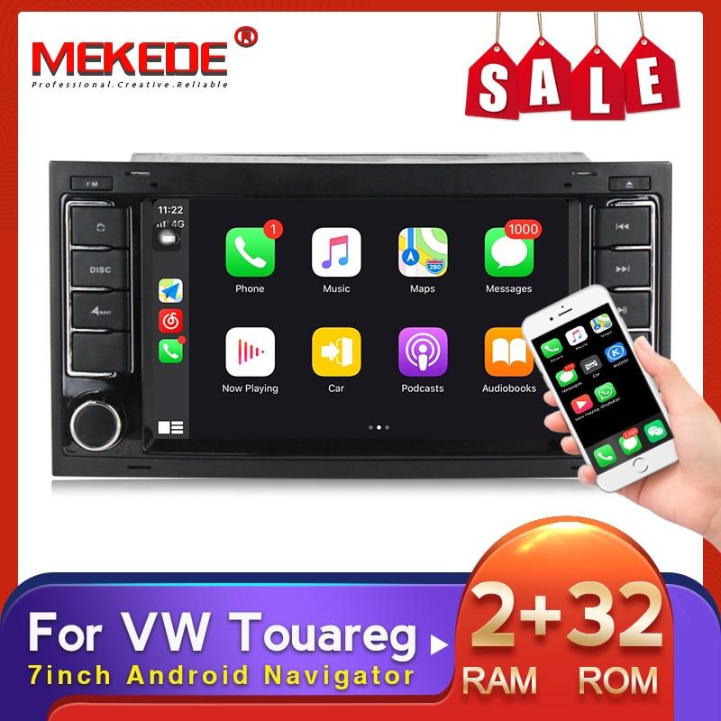 MEKEDE 7 pollici 2DIN Android Navigator lettore DVD per auto per VW Volkswagen Touareg Transporter T5 Multivan Multimedia Radio GPS USB BT