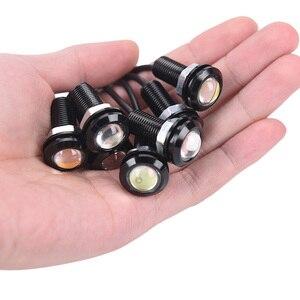 New 1pcs 12V LED 18mm Eagle Eye Light High Power lamp Auto Fog bulb Backup DRL car styling Daytime Running Light parking lights