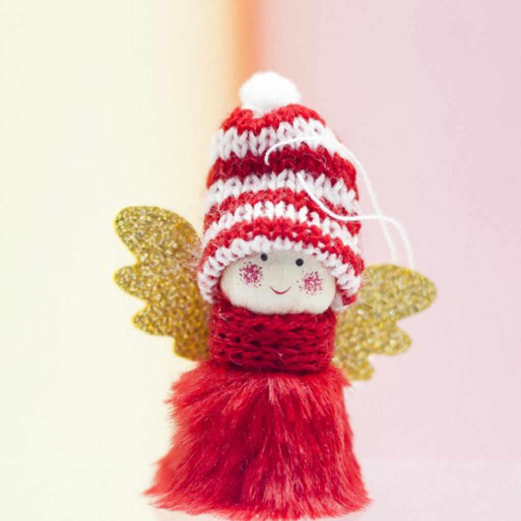 Decoración de Navidad colgante mini peluche bonito Ángel chica árbol colgantes ornamentos decoración del hogar decoración para fiestas ornamentos