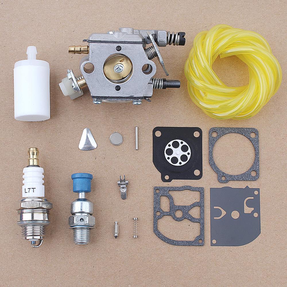 Carburetor Fuel Filter Hose Repair Kit For Husqvarna 51 55 Chainsaw  503281504 w Decompression Valve Spark Plug Chainsaws  - AliExpressAliExpress