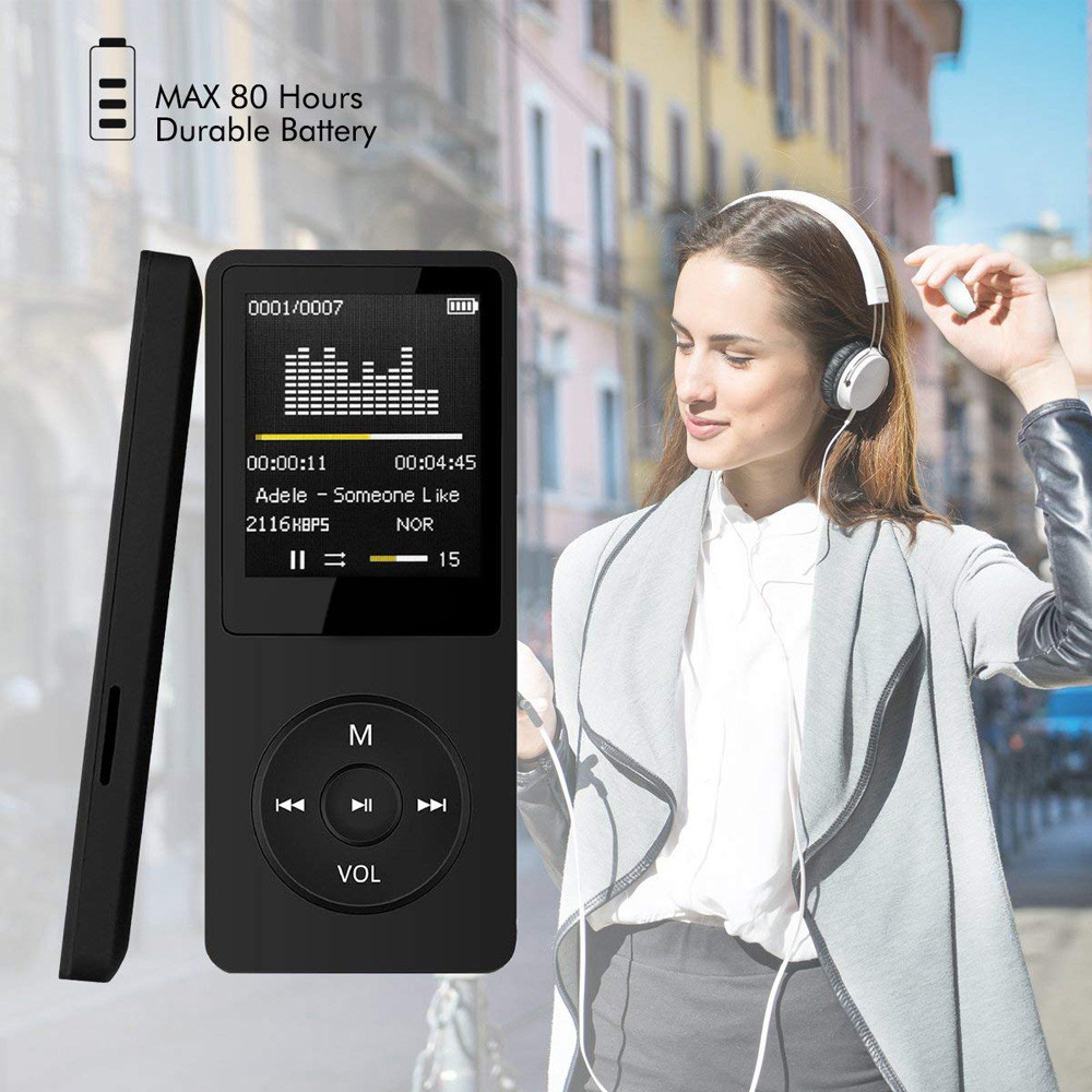 2019 Fashion Portable MP3 Player LCD Screen FM Radio Video Games Movie Walkman with Original AMV