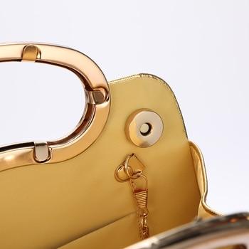 Evening  Luxury Designer Irregular Crystal Rhinestone PU Leather Shoulder Bag  5