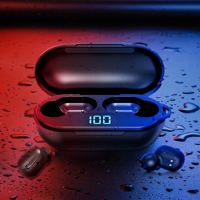 New H6 Wireless Headphones Bluetooth 5.0 Earphone TWS HIFI Mini In-ear Sports Running Headset Support iOS/Android Phones HD Call 6
