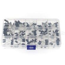 200pcs 0.1-220uF 15 Value Electrolytic Capacitor Assortment Box Kit