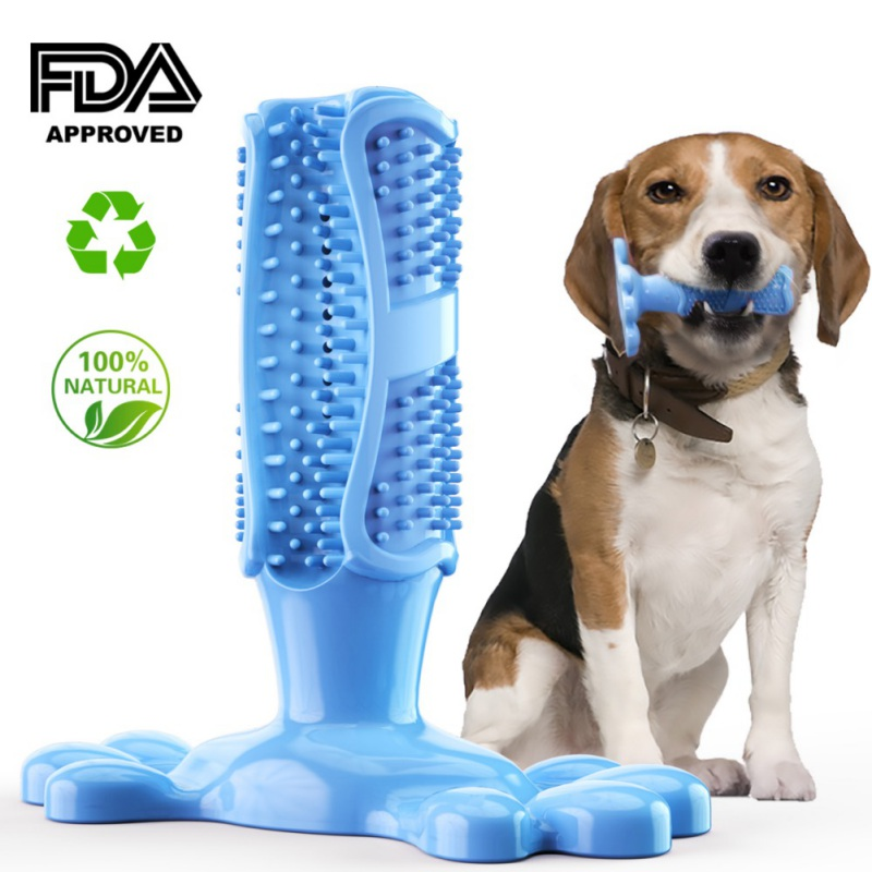 Pet dog chew toy puppy tooth brush soft rubber pet molar tooth cleaning brush tooth puppy pet toothbrush pet supplies image