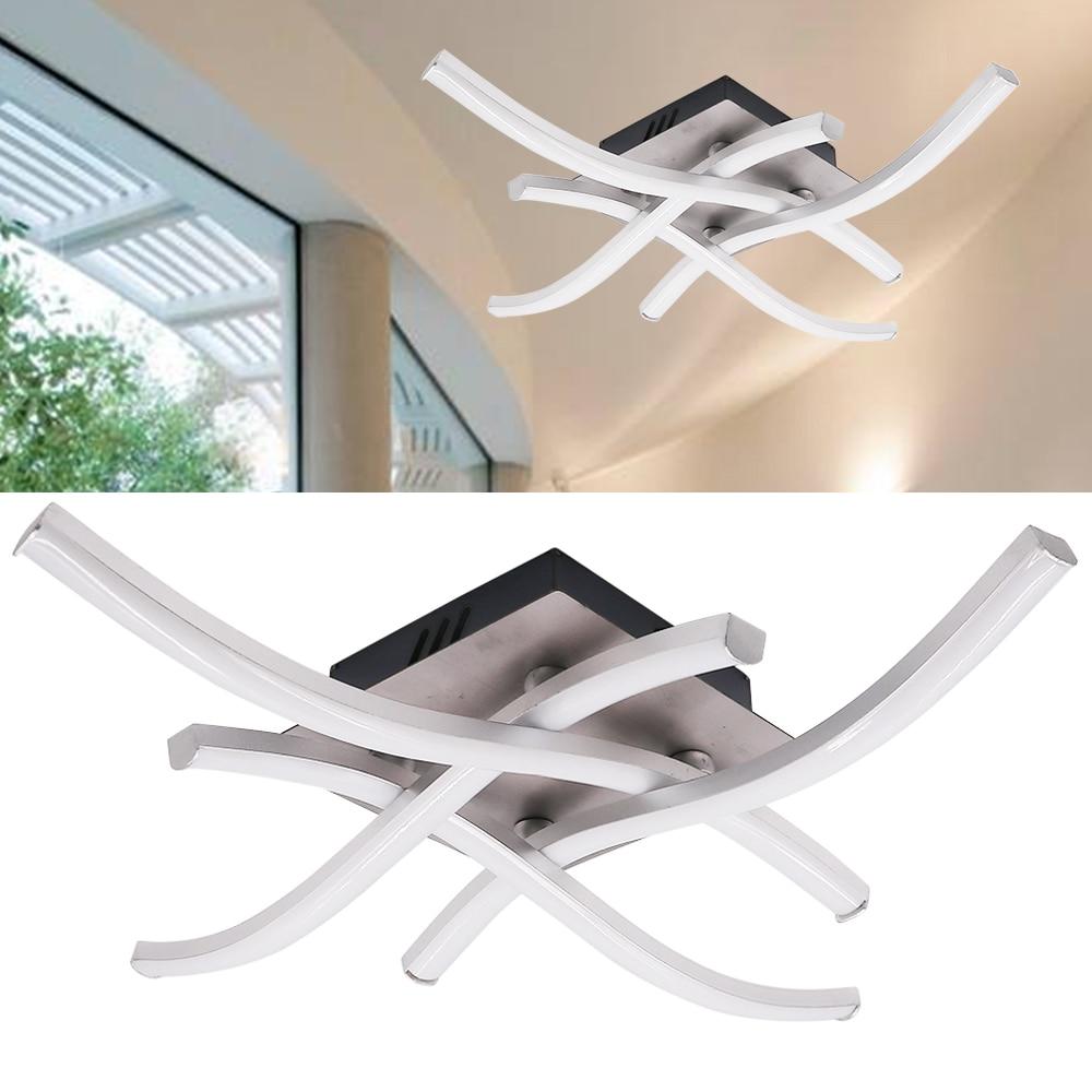 โมเดิร์นไฟ LED เพดาน 18W 24W LED อลูมิเนียม Forked รูปเพดานโคมไฟสำหรับห้องนอนห้องนั่งเล่นโคมไฟ 85-265V