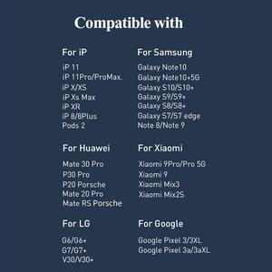 Image 2 - Baseus Dual Qi Беспроводное зарядное устройство для Airpods iPhone 11 Pro Max EU USB зарядное устройство 20 Вт быстрая Беспроводная зарядка Pad для Samsung Xiaomi