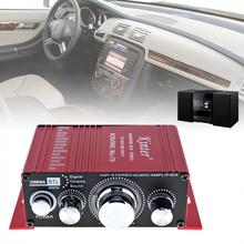 Mini 2CH Hi-Fi Aluminum Alloy lightweight  Stereo Amplifier Booster Support DVD CD MP3 Input for Cars Motorcycle Home