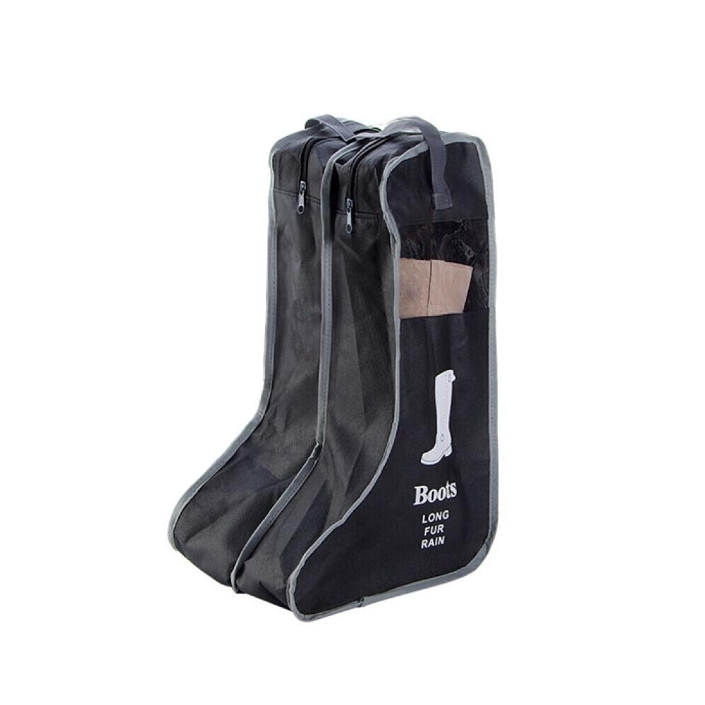 2 размера, сумка для хранения обуви, карман для обуви, чехол для путешествий, портативная практичная сумка в Корейском стиле, пылезащитная сумка на молнии - Цвет: Black