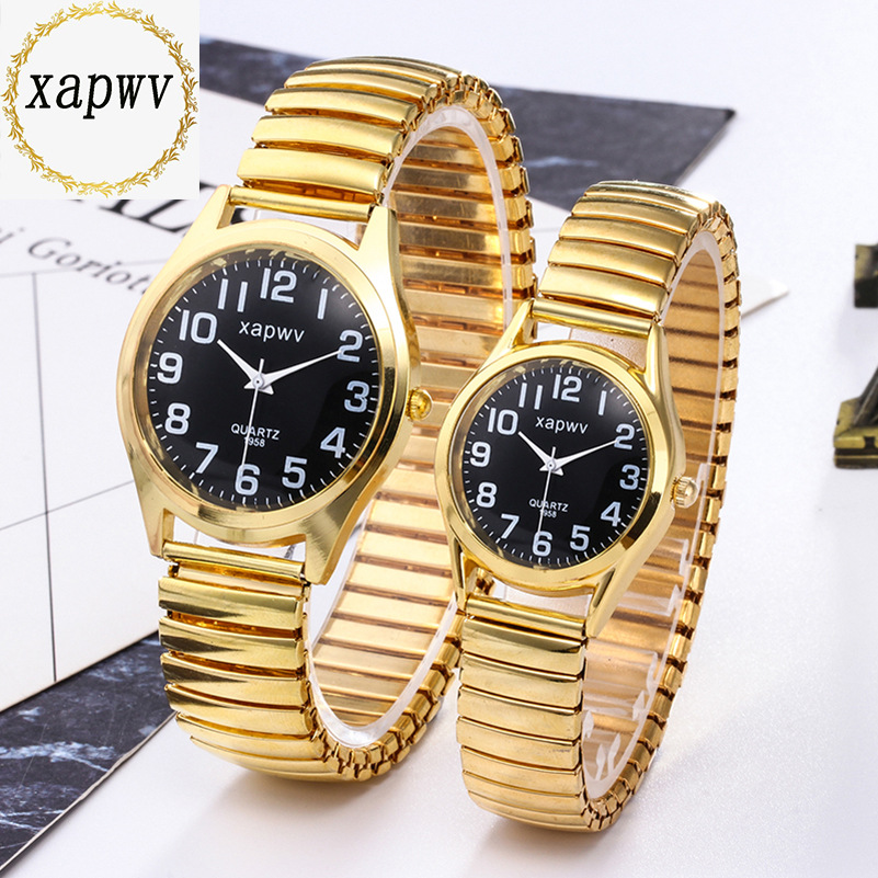 Fashion Men Women Watch Stainless Steel Flexible Stretch Band Lovers Couple Male Female WristWatch Bracelet Quartz Clock C102