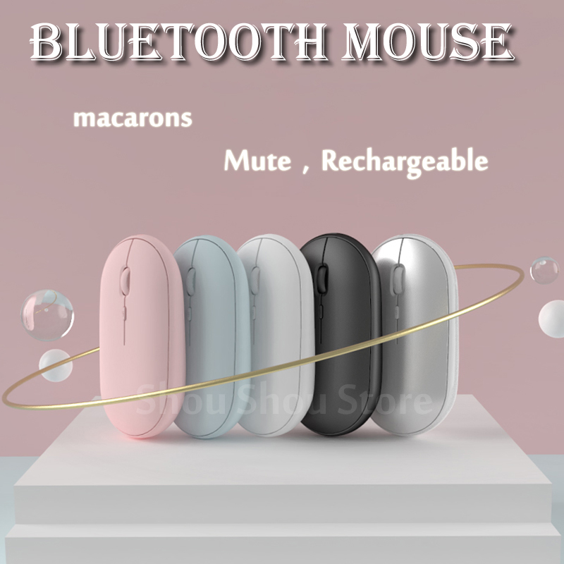 Rechargeable Wireless Bluetooth Mouse Laptop Computer For Huawei Macbook Dell Acer Hp Asus For Mac os / Win10 / Chrome os
