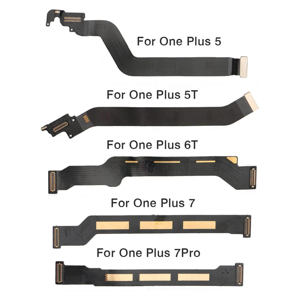 For Oneplus 5/5T A5010/6T/7/7 Pro Main Motherboard LCD Display Connector Long Flex Cabel Ribbon Main Flex Replacement Parts