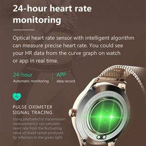 Image 4 - UTELITE ساعة متصلة KW10 pro للنساء ، شاشة تعمل باللمس ، IP68 ، مقاومة للماء ، مراقب معدل ضربات القلب ، النوم ، PK KW10 DT88 ، 2020