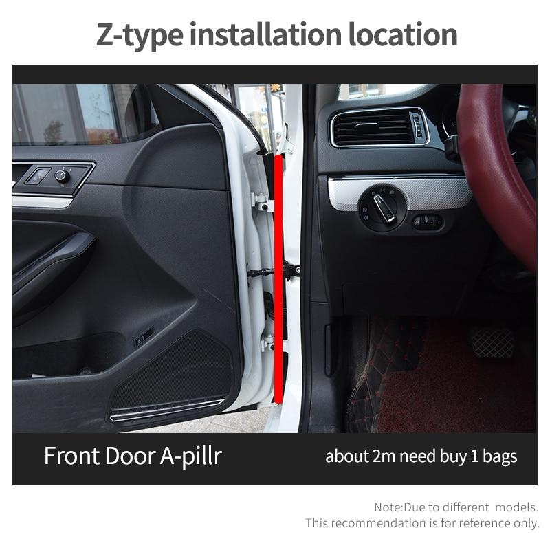 QZAPX Car door weatherstrip Big D Small D Z P Type Waterproof Trim Sound Insulation Soundproof