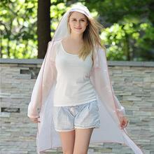 Waterproof Adult Raincoat EVA Hiking Accessories Cover Unisex Rainwear Transparent Rain Gear Poncho Outdoor