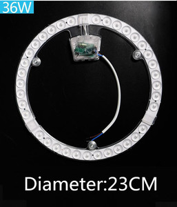 Image 3 - 12W 18W 24W 36W 48W 72W LED halka paneli daire ışık AC220V 240V LED yuvarlak tavan panosu dairesel lamba kurulu