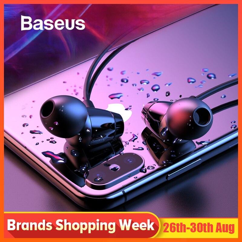 Baseus S09 Bluetooth Earphone Wireless IPX5 Waterproof Earphones Neckband Fone de ouvido Sports Headset Stereo Earbuds Earpieces