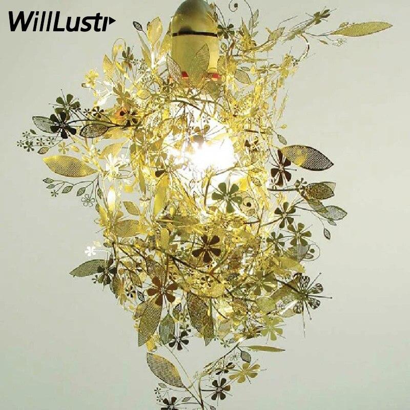 Tord Boontjes Garland Light Shade Flower Lamp Pendant Chandelier,sliver