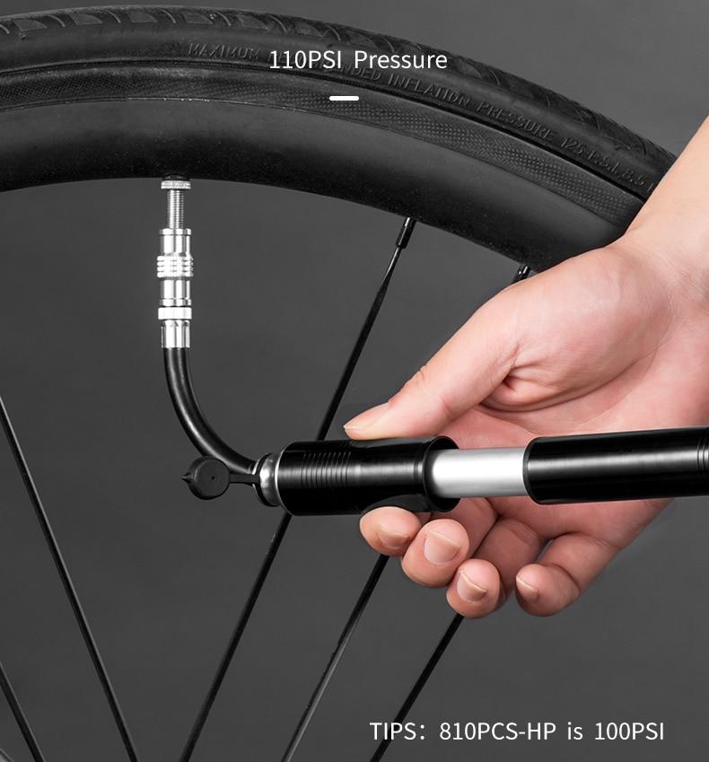 RockBros Mini Portable Air Cycling Pump Basketball Pump Tire Inflator 160PSI