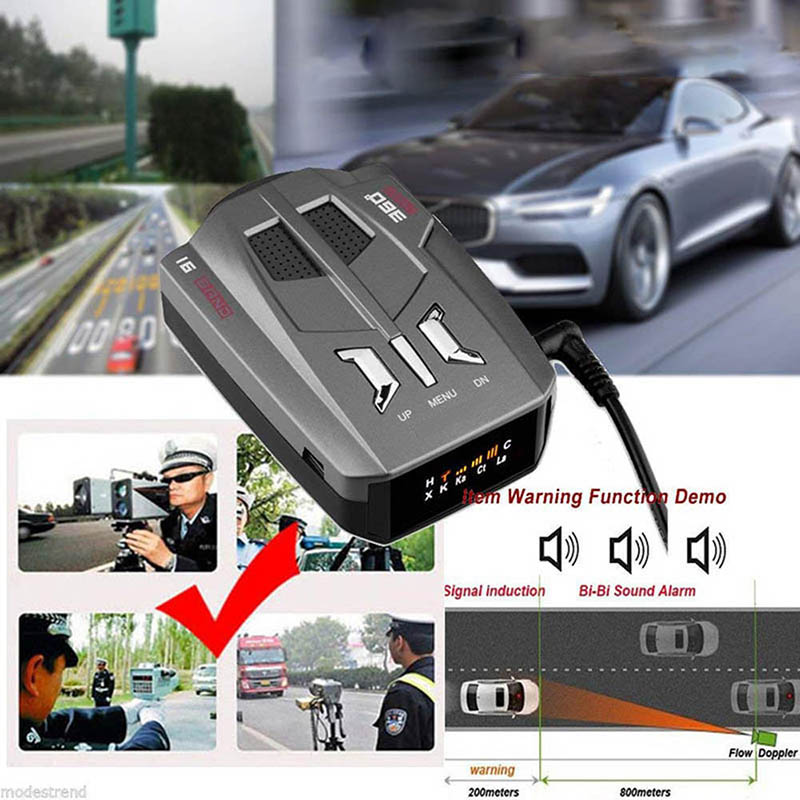 Hot V9 Car Speed Radar Detector Voice Alert And Alarm System Radar Detector Kit