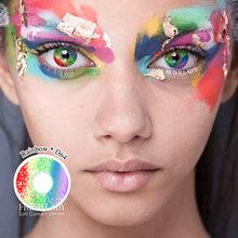 2 шт/пара серия радужной расцветки Цвет ed контактные линзы