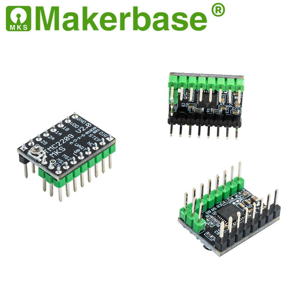 Makerbase MKS TMC2209 2209 controlador de Motor paso a paso piezas de impresora 3d 2.5A UART ultra silencioso para SGen_L Gen_L Robin Nano