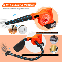 Cordless Leaf Blower 21V 4.0A Lithium 2 in1 Sweeper and Vacuum Electric Air Blower Computer Cleaner Garden Kit with Suction Hose