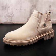 Autumn Winter Genuine Leather Ankle Boots Chelsea Boots Men Shoes Warm Vintage Classic Male Casual Motorcycle Boots Snow Boots british style men ankle boots genuine leather vintage boots autumn male shoes motorcycle boots 022 page 3