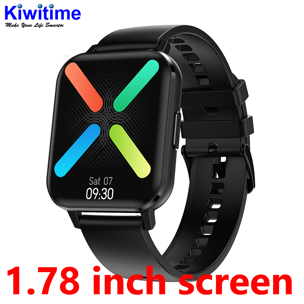 KIWITIME DT X DTX SmartWatch 1 78 Inch HD Screen IP67 Waterproof Heart Rate Monitor Fitness Tracker Sports Watch for Android IOS