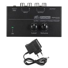 PP500 telefon preamplifikatör fono Preamp bas tiz denge ses tonu EQ kontrol panosu ses Metal Stereo ab tak