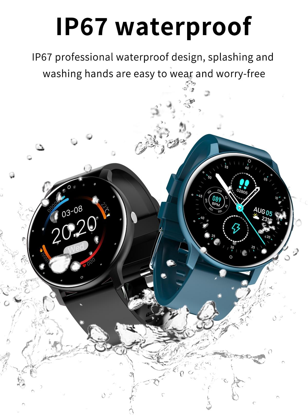 He8dea189c0ef4a3bafeeb5b4f9338a3bY LIGE 2021 Fashion Smart Watch Men Fitness Bracelet Heart Rate Blood Pressure Monitoring Sports Tracker Smartwatch Gift for Women