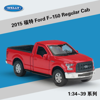 2015 Ford F-150 Regular Cab WELLY Cars 1/36 Metal Alloy Diecast Model Cars Toys image
