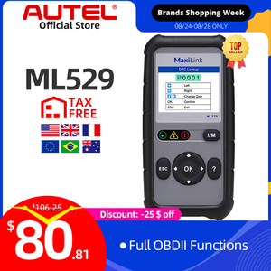 Image 1 - AUTEL MaxiLink ML529 Scanner Auto OBDII Mode 6 OBD2 Car Diagnostic Tool eobd Built in DTC Lookup Speaker Clear Code Reader AL519