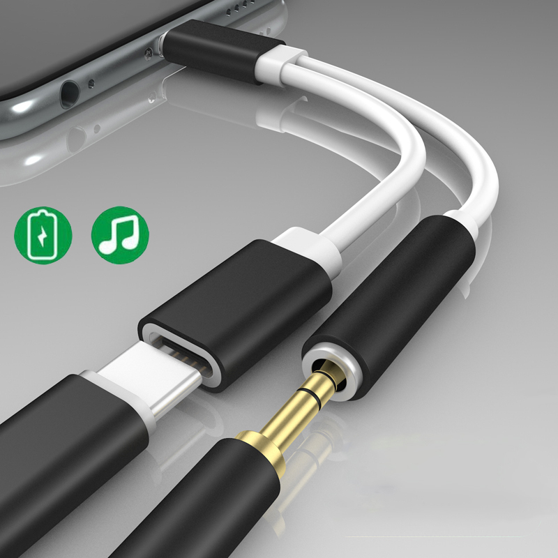 Charger and Headphone Adapter For <font><b>iPhone</b></font> XS 11 Pro MAX SE <font><b>2</b></font> XR X 8 Plus <font><b>2</b></font> <font><b>in</b></font> <font><b>1</b></font> Adapter AUX <font><b>Cable</b></font> For Apple 10 SE 2020 Splitter image