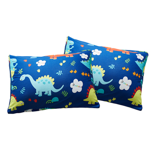 Image 3 - 쿨 블루 공룡 2/3pcs 이불 커버 침구 세트 어린이 베개 케이스 침대 시트 침대 커버 귀여운 만화 패턴 3 크기