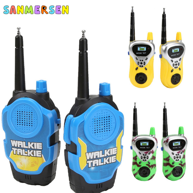 2PCS/Set Kids Walkie Talkie Phone Toys Parent-Child Interaction Two-Way Audio Electronic Toys For Children Educational Games