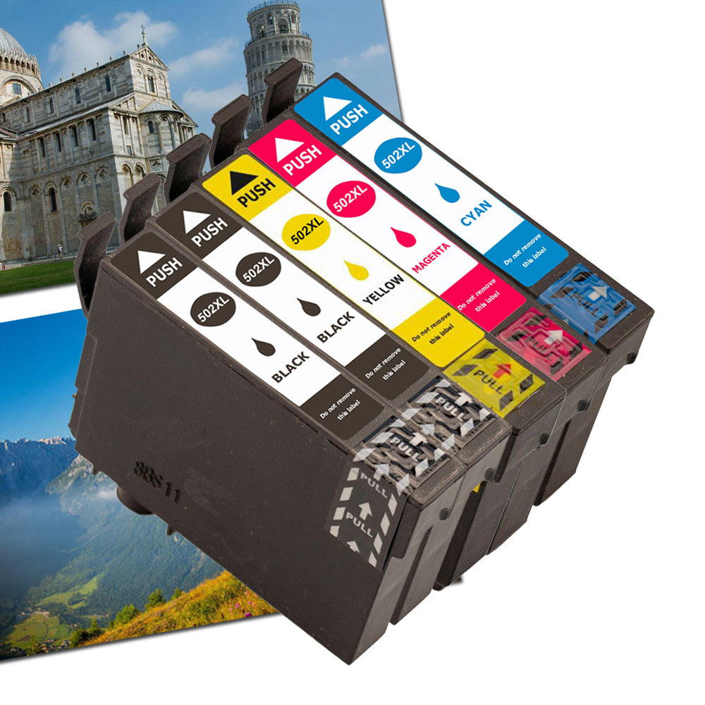 Ouguan 502XL Ink Cartridges Replacement For Epson 502 XL Ink For Use With Epson Expression Home XP5105 XP-5105 XP5100 XP-5100,