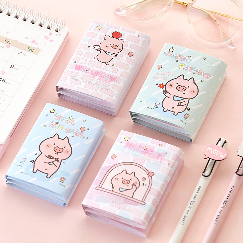 Cute Pink Pig Unicorn Six Fold Notepad Creative Stationery Papeleria Chancellory Sketchbook Post It Notebook Sticky Notes Office