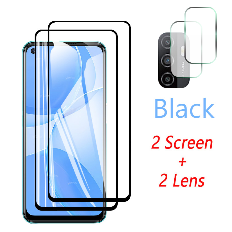 Protective Glass for OPPO A53s Screen Protector Tempered Camera Lens Safety Glass for OPPO A53s A53 S 5g PECM30 PECT30 CPH2139 4