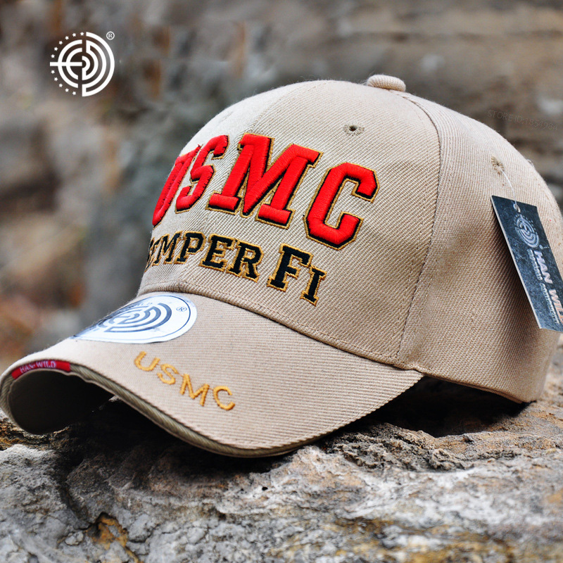 Hunting Caps US Marine Tactical Baseball Cap Men USMC Navy Snapback Hat SEMPER FI Bone Adjustable Cotton Army Baseball Hat